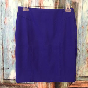 Ann Taylor Loft Size 0 Blue Pencil Straight Skirt